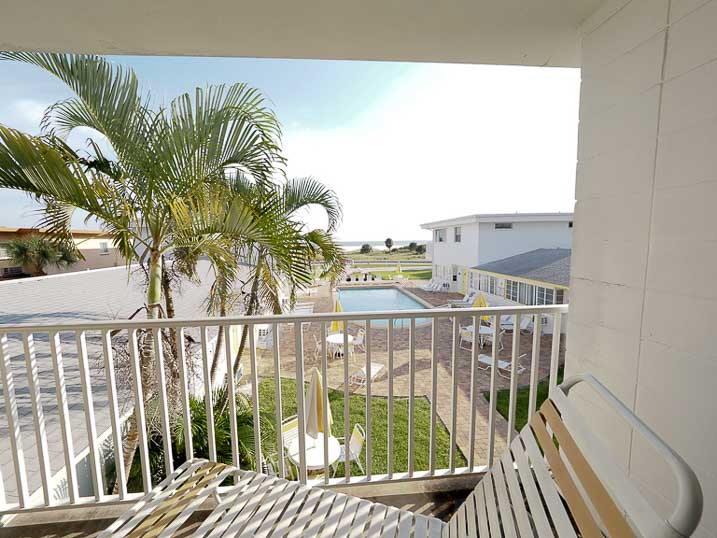 The view from our second-floor balcony accommodations are spectacular!