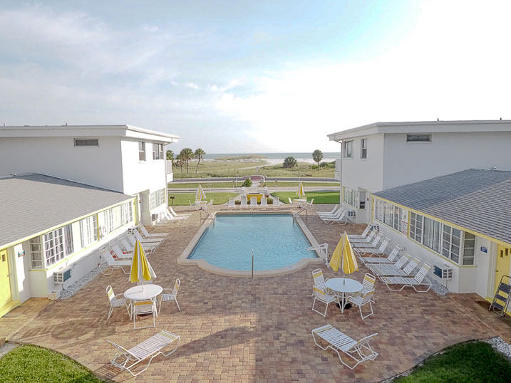 Balcony views of the pool and beach are spectacular!