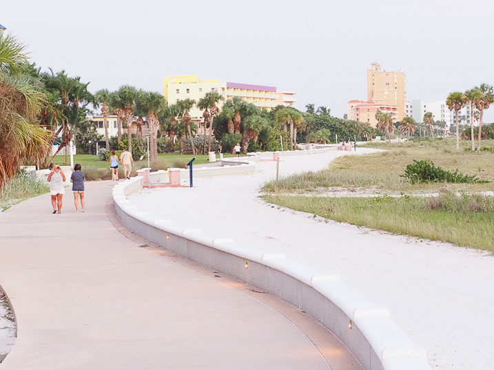 The Sands of Treasure Island has a walking and bicycle trail in our backyard.