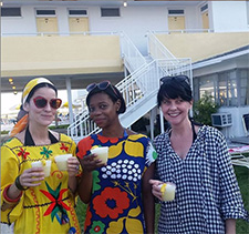 These ladies are dressed to impress at The Sands of Treasure Island. Established in 1947, it is St. Petersburg's first mid-century motel on Treasure Island.